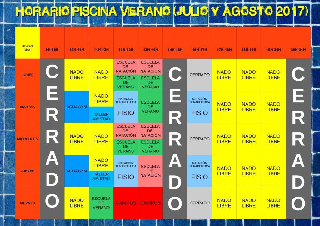 Horario piscina verano 2017 julio y agosto consejo for Horario piscina alaquas