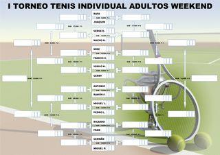I TORNEO TENIS INDIVIDUAL ADULTO WEEKEND (Normativa competición - Cuadro de Competición y Horarios)