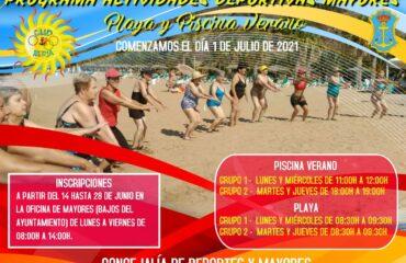 ACTIVIDADES DEPORTIVAS PARA MAYORES (Piscina de Verano y Playa)